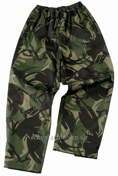 Waterproof Clothes : Waterproof Trousers : British DPM Style Camouflage Trousers
