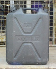 25 Litre Black Plastic Water Container