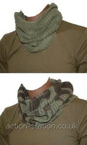 100% cotton- Size: 100 x 50cm- Colours: Olive Green, Black or Camo