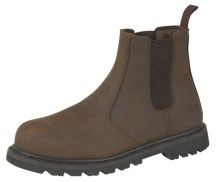 Brown Leather Safety Chelsea Boot