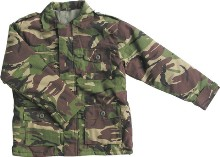 Children's DPM Combat Camo Jacket. Padded inner to keep out the cold with a tough rip stop polycotton outer for durability.