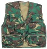 Children's camouflage action vest.Polycotton outer-Zip front-11 pockets-